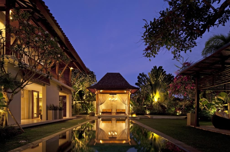 Gardens and Pool at Night - Villa Lilibel - Seminyak, Bali
