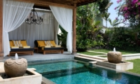 Pool Side Seating Area - Villa Lilibel - Seminyak, Bali