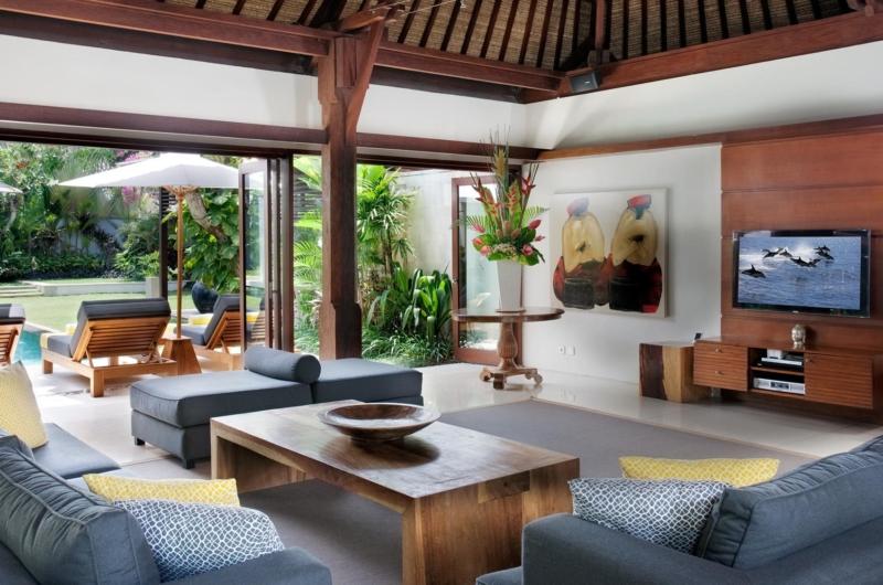 Lounge Area with TV - Villa Lilibel - Seminyak, Bali
