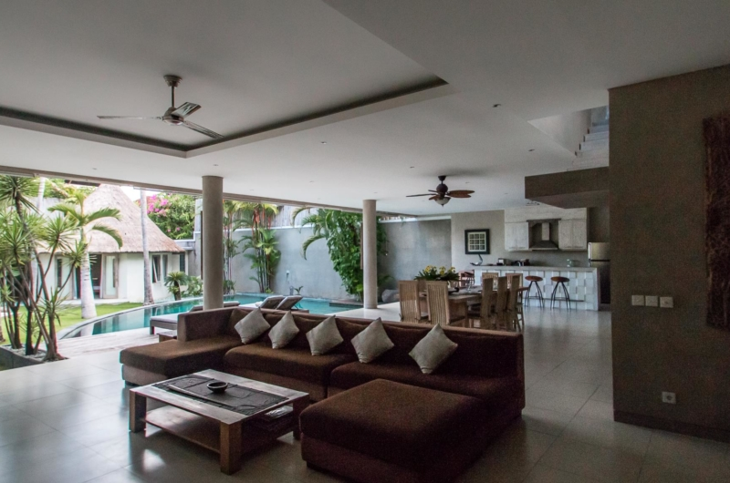 Living Area with Pool View - Villa Lisa - Seminyak, Bali