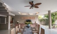 Dining Area with Garden View - Villa Lisa - Seminyak, Bali