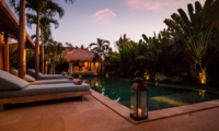 Sun Beds at Night - Villa Little Mannao - Kerobokan, Bali