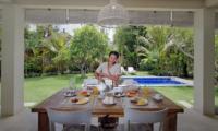 Dining Area with Pool View - Villa Lodek Deluxe - Seminyak, Bali