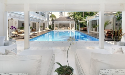 Living Area with Pool View - Villa Lulito - Seminyak, Bali