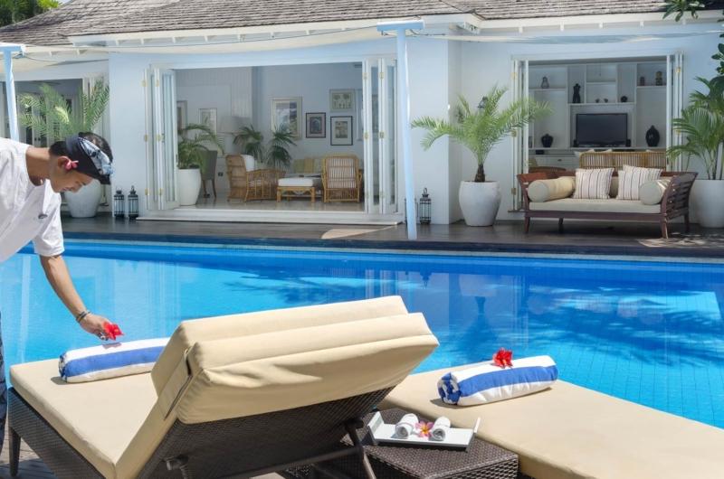 Pool Side Loungers - Villa Lulito - Seminyak, Bali