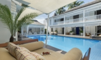 Pool Side Seating Area - Villa Lulito - Seminyak, Bali