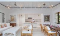 Living, Kitchen and Dining Area - Villa Lulito - Seminyak, Bali