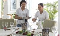 Dining Area with Staff - Villa Lulito - Seminyak, Bali