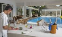 Kitchen with Pool View - Villa Lulito - Seminyak, Bali