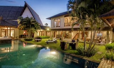 Gardens and Pool at Night - Villa M - Seminyak, Bali