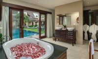 En-Suite Bathroom with Pool View - Villa M - Seminyak, Bali