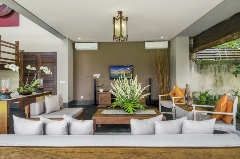 Living Area with TV - Villa M - Seminyak, Bali