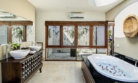 En-Suite His and Hers Bathroom with Bathtub - Villa M - Seminyak, Bali