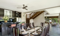Kitchen and Dining Area with Up Stairs - Villa M - Seminyak, Bali