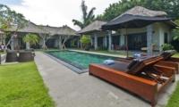 Reclining Sun Loungers - Villa Mahkota - Seminyak, Bali