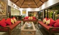 Indoor Living Area - Villa Mahkota - Seminyak, Bali