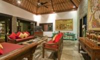 Lounge Area with TV - Villa Mahkota - Seminyak, Bali