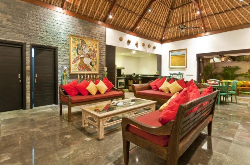 Living and Dining Area - Villa Mahkota - Seminyak, Bali