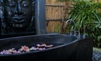 Bathtub with Petals - Villa Mahkota - Seminyak, Bali
