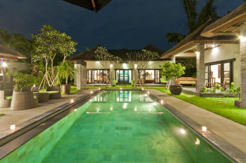Pool at Night - Villa Mahkota - Seminyak, Bali
