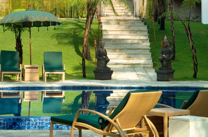 Pool Side Loungers - Villa Mako - Canggu, Bali