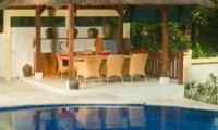 Pool Side Dining - Villa Mako - Canggu, Bali