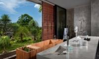 Bathroom with View - Villa Mana - Canggu, Bali