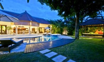 Gardens and Pool at Night - Villa Mango - Seminyak, Bali