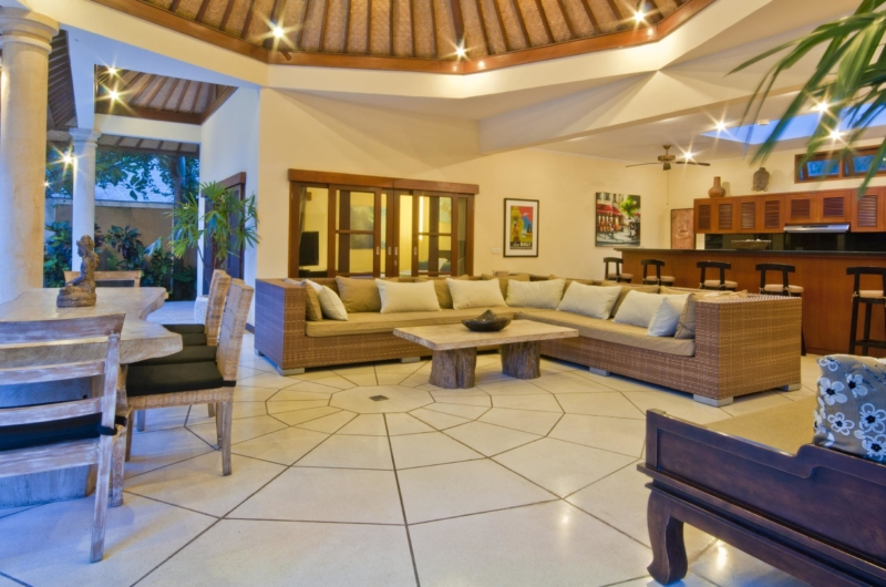 Living and Dining Area - Villa Mango - Seminyak, Bali