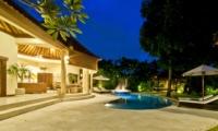 Sun Beds at Night - Villa Mango - Seminyak, Bali