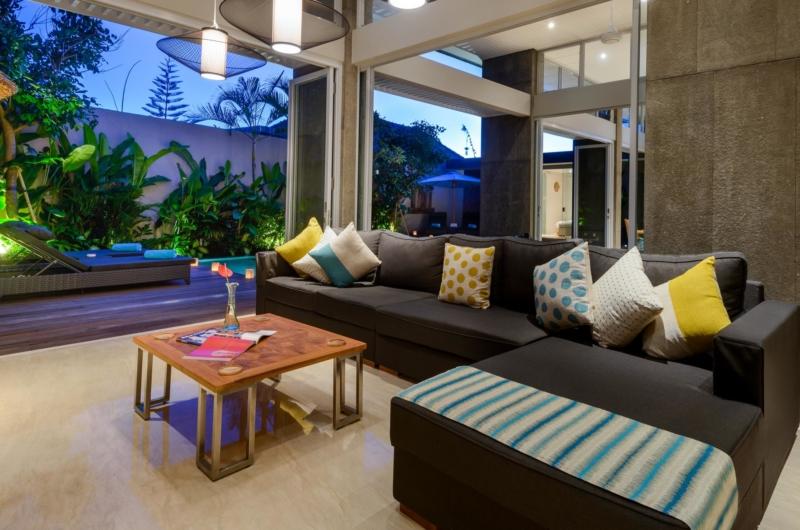 Living Area with View - Villa Manis Aramanis - Jimbaran, Bali