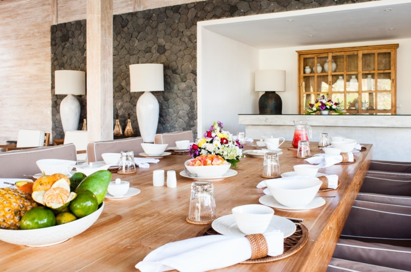 Dining Area with Fruits - Villa Mannao - Kerobokan, Bali