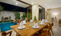 Dining Area with Pool View - Villa Maria - Legian, Bali