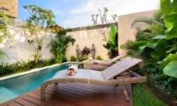 Pool Side Loungers - Villa Maria - Legian, Bali