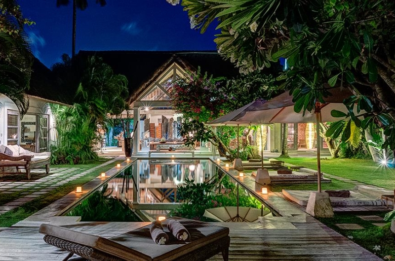Pool at Night - Villa Massilia - Seminyak, Bali
