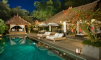 Pool Side Loungers - Villa Maya Retreat - Tabanan, Bali