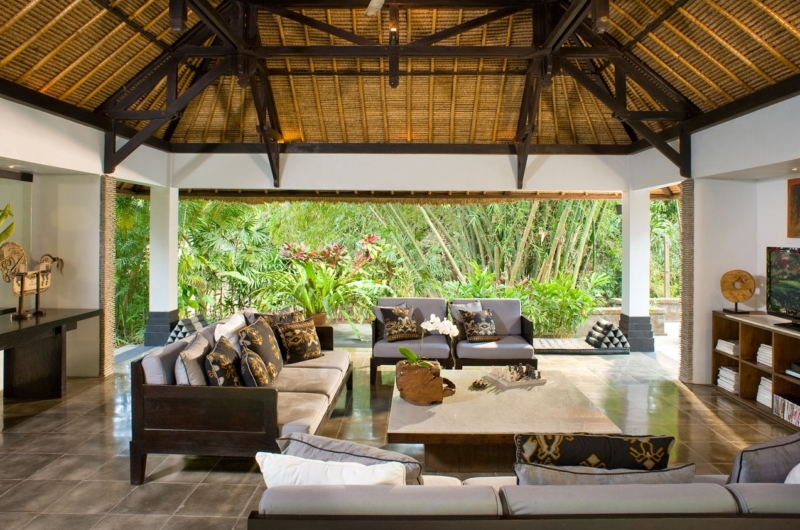 Living Area with TV - Villa Maya Retreat - Tabanan, Bali