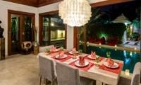 Dining Area with Pool View - Villa Menari Residence - Seminyak, Bali