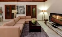 Lounge Area with TV - Villa Menari Residence - Seminyak, Bali