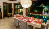 Dining Area at Night - Villa Menari Residence - Seminyak, Bali