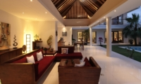 Living Area at Night - Villa Merayu - Canggu, Bali