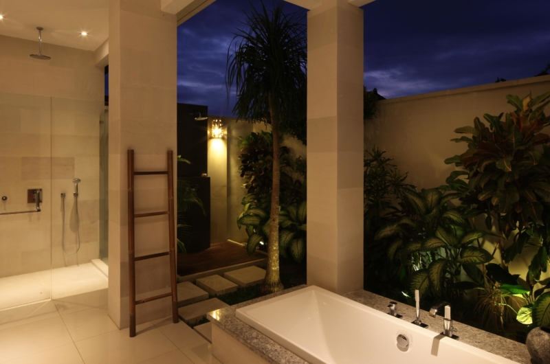 En-Suite Bathroom at Night - Villa Merayu - Canggu, Bali
