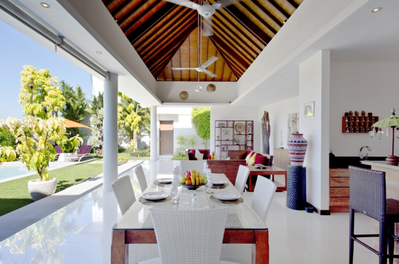 Dining Area with Pool View - Villa Merayu - Canggu, Bali