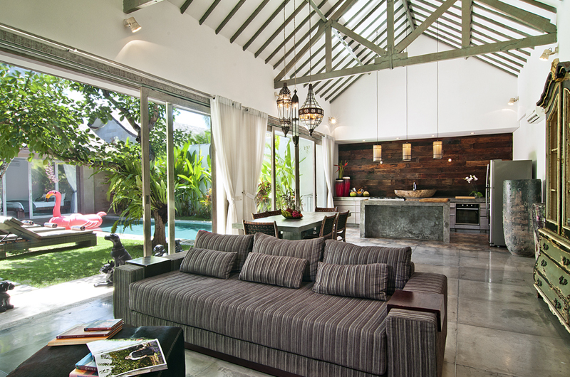 Living, Kitchen and Dining Area - Villa Mia - Canggu, Bali