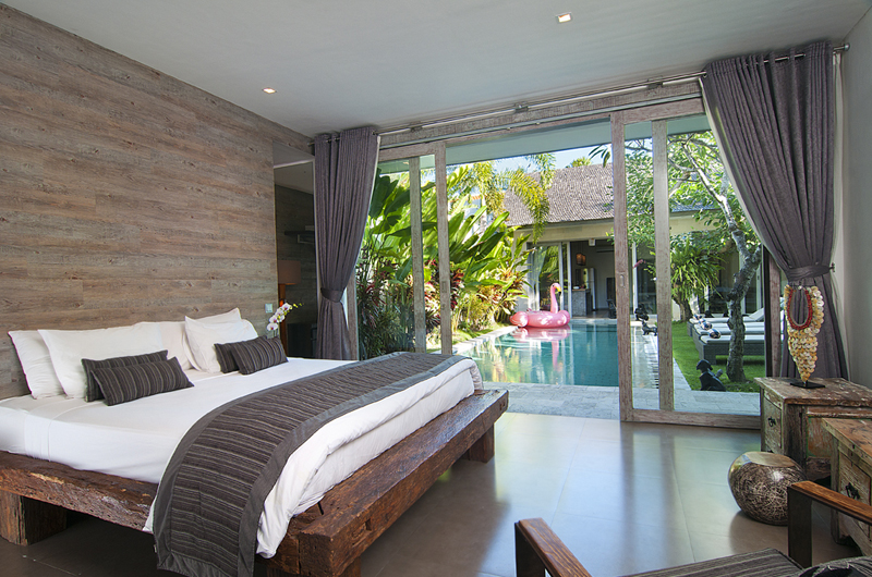 Bedroom with Pool View - Villa Mia - Canggu, Bali