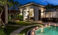 Gardens and Pool at Night - Villa Miro - Seminyak, Bali