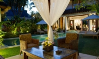 Pool Side Seating Area - Villa Nataraja - Sanur, Bali