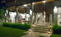 Outdoor Area at Night - Villa Nelayan - Canggu, Bali