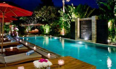 Pool at Night - Villa Nilaya Residence - Seminyak, Bali