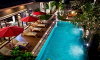 Swimming Pool at Night - Villa Nilaya Residence - Seminyak, Bali
